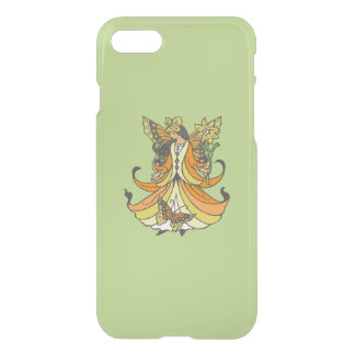 Orange Butterfly Fairy With Flowing Dress iPhone 7 Case