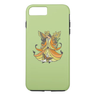 Orange Butterfly Fairy With Flowing Dress iPhone 7 Plus Case