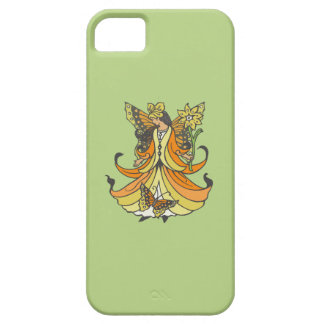 Orange Butterfly Fairy With Flowing Dress iPhone SE/5/5s Case