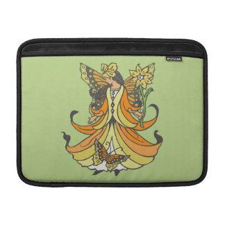 Orange Butterfly Fairy With Flowing Dress MacBook Air Sleeves