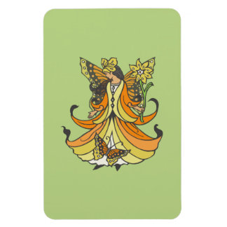 Orange Butterfly Fairy With Flowing Dress Magnet