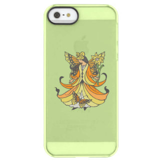 Orange Butterfly Fairy With Flowing Dress Permafrost iPhone SE/5/5s Case