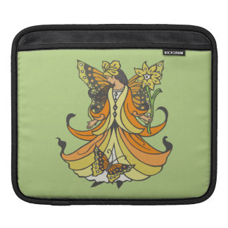 Orange Butterfly Fairy With Flowing Dress Sleeve For iPads
