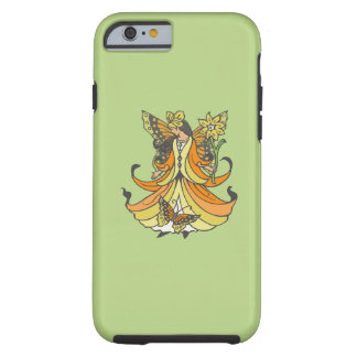 Orange Butterfly Fairy With Flowing Dress Tough iPhone 6 Case