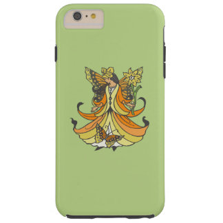 Orange Butterfly Fairy With Flowing Dress Tough iPhone 6 Plus Case