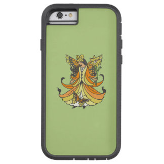 Orange Butterfly Fairy With Flowing Dress Tough Xtreme iPhone 6 Case