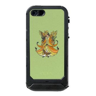 Orange Butterfly Fairy With Flowing Dress Waterproof iPhone SE/5/5s Case