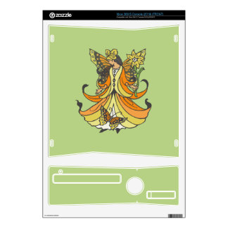 Orange Butterfly Fairy With Flowing Dress Xbox 360 S Decal