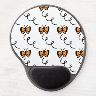 Orange Butterfly Flight Gel Mouse Pad