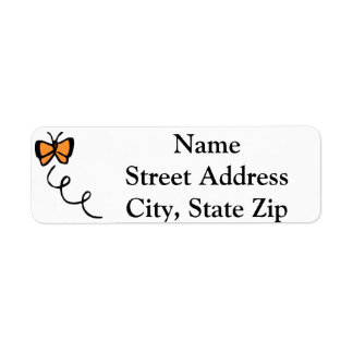 Orange Butterfly Flight Labels