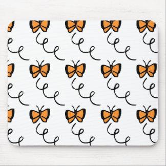 Orange Butterfly Flight Mouse Pad
