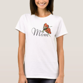 Orange Butterfly for Mom T-Shirt