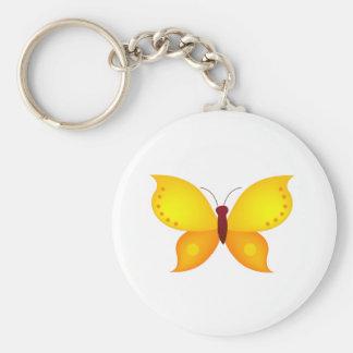 Orange Butterfly Keychain