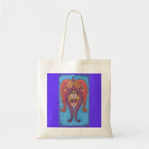 Orange Butterfly Mardi Gras Tote Bag