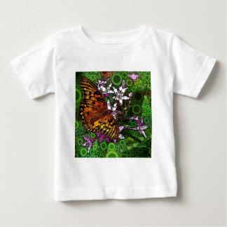 Orange Butterfly Mosaic Baby T-Shirt