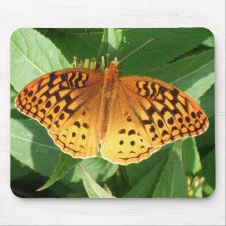 Orange Butterfly Mousepad