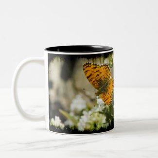Orange Butterfly Mug