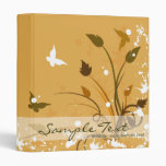 Orange Butterfly Nature Binder