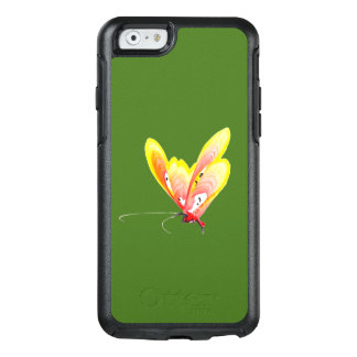 Orange butterfly on iPhone case 6/6s