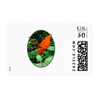 Orange Butterfly on Lantana Postage