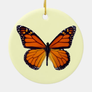 Orange Butterfly Ornament Round