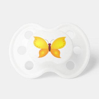 Orange Butterfly Pacifier