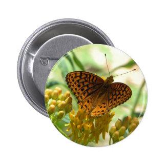 Orange butterfly pin