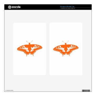 Orange Butterfly Kindle Fire Decals