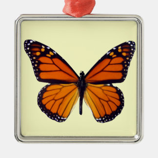 Orange Butterfly Square Ornament