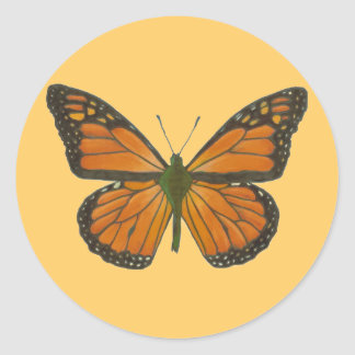 Orange Butterfly Sticker