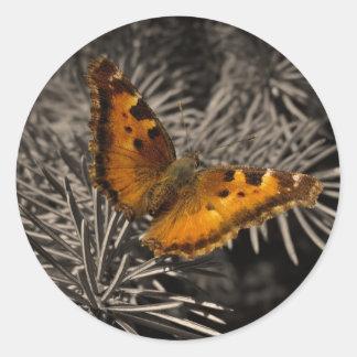 Orange Butterfly Stickers