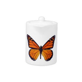 Orange Butterfly Teapot