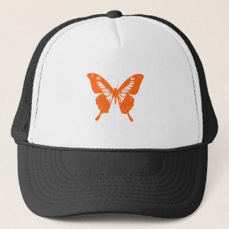 Orange Butterfly Trucker Hat