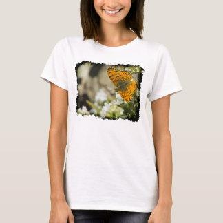 Orange Butterfly White Edge T-Shirt