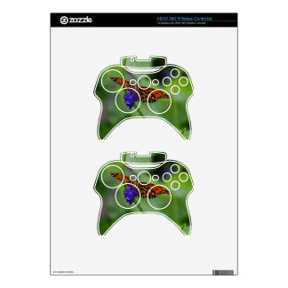 Orange Butterfly Xbox 360 Controller Skins