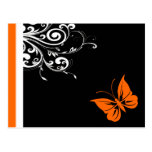 Orange Butterly Swirls Postcards