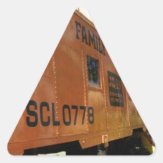 Orange Caboose Triangle Sticker