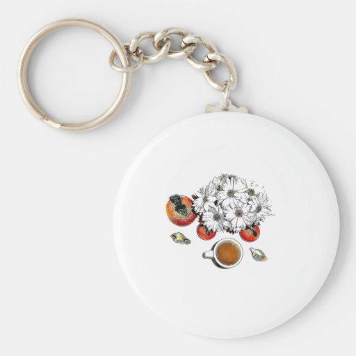Orange Cafe Key Chain
