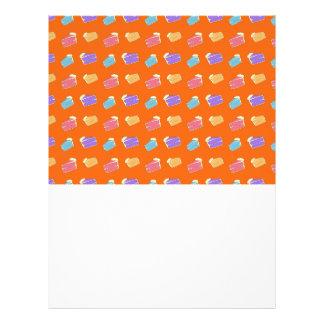 Orange cake pattern personalized flyer