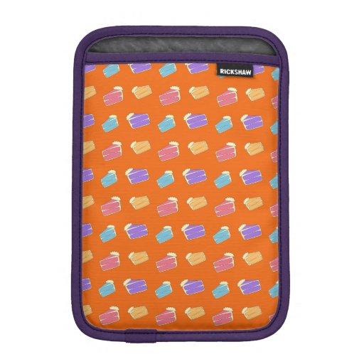 Orange cake pattern iPad mini sleeves