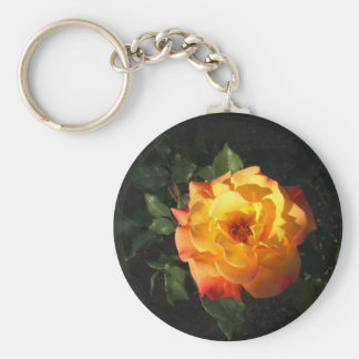 Orange Cali rose keychain