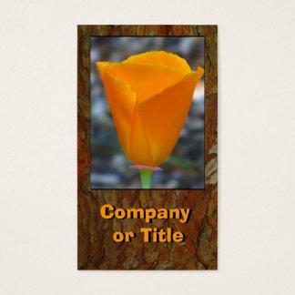 Orange California Flower Business Card