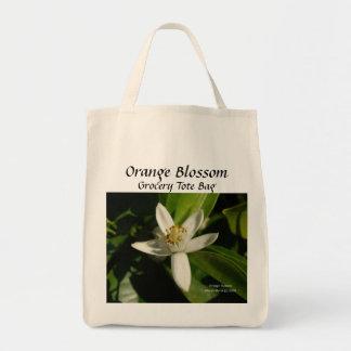 Orange - California Gardens Grocery Tote Bag
