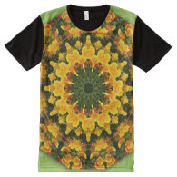 Orange California Poppies, All-Over Printed Panel All-Over Print T-shirt