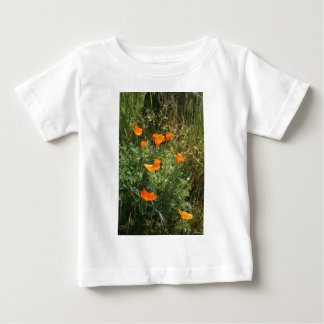 Orange California Poppies Baby T-Shirt
