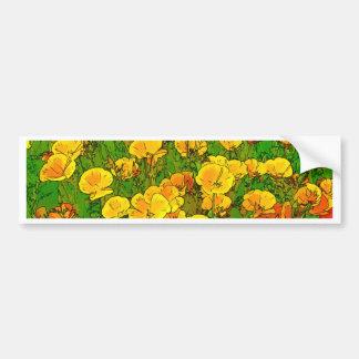Orange California Poppies Bumper Sticker