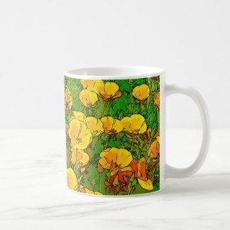 Orange California Poppies Coffee Mug