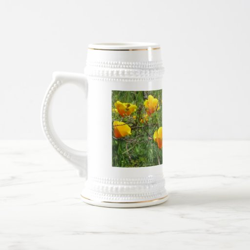 Orange California Poppies Mugs
