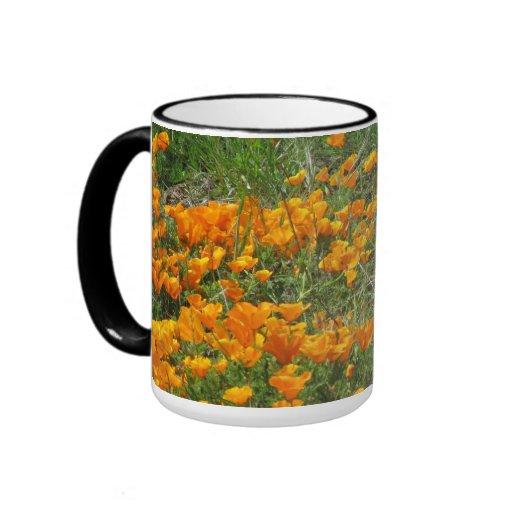 Orange California Poppies Mug