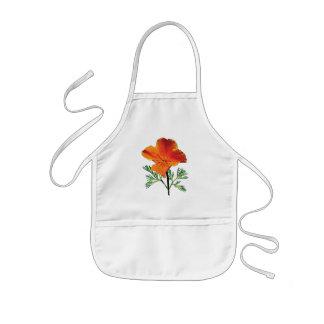 Orange California Poppy Apron